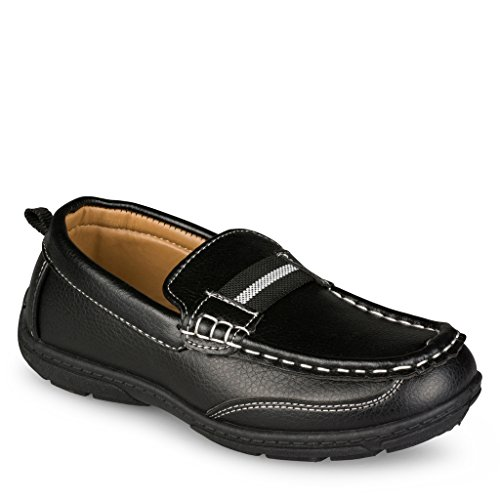 Chillipop Loafers for Boys & Toddlers – Faux Leather, Lace-Up Moccasin Shoe