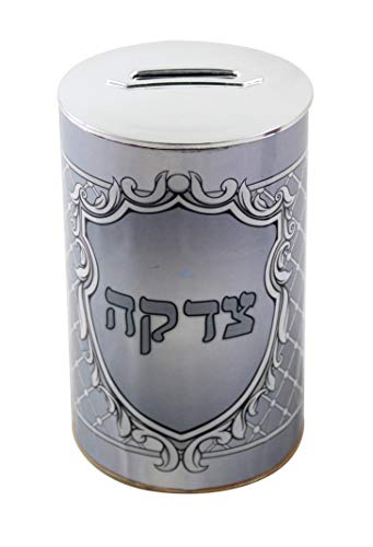 SNSArts-Judaica-Beautiful-Plastic-Tzedakah-Box-117cm-Gray-Min-Qty-Order-5-The-Price-is-for-5-pcs