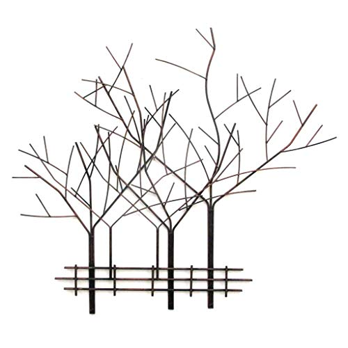 Iron Wrought Branch (Collectible Badges Decorative Tree Motif Wrought Iron Metal Wall Plaque)
