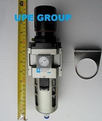 "3/4"" Air Pressure Regulator In line for Compressed Air Compressor w/ Gauge"