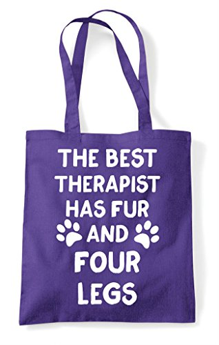 Themed Fur Therapist Tote Four Purple Shopper The Bag Animal Legs Has Funny Cute And Best CqwSTtSav