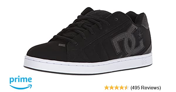 42ce63845858 Amazon.com  Mens DC Net SE Skate Shoe Black Grey