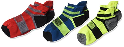 - ASICS Youth Quick Lyte Cushion Low Cut Running Socks (3 Pack), Fiery Red,Youth Medium