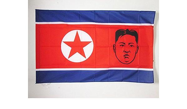 AZ FLAG Bandera de Corea del Norte con Kim Jong-UN 150x90cm para Palo - Bandera NORCOREANA 90 x 150 cm: Amazon.es: Hogar