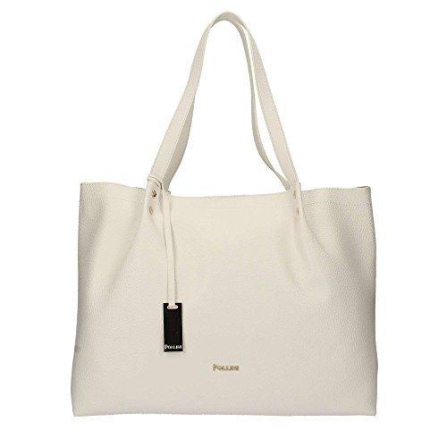 Pollini Shopping a mano e tracolla Bianco