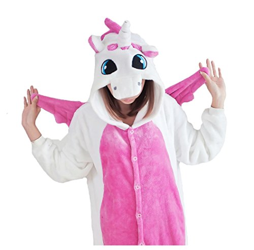 Unisex Adult Animal Oneise Warm Pajamas Halloween Horse Cosplay Costume XL P-Horse