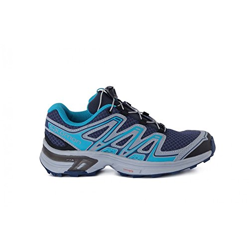 Salomon L38155800, Zapatillas de Trail Running para Mujer Negro-Azul