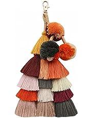 1Pc Bohemian Tassel Keychain etnische stijl sleutelhanger tas hanger mode-accessoires sleutelhanger voor vrouwen (D) De beste keuze voor geschenken