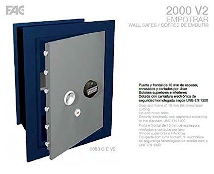 CAJA FUERTE DE EMPOTRAR 2083 C V2 755X555X350 mm 78kg , 75litros FAC Seguridad