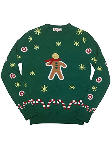 Cool Runnings Costume Amazon (Digital Dudz Gingerbread Snack Digital Christmas Sweater - size Large)
