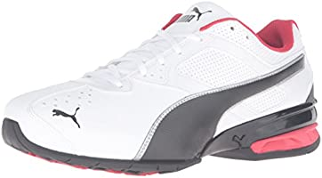 PUMA Men's Tazon 6 FM Cross-Trainer Shoe, Puma Blanco/ Puma Negro/ Puma Plateado