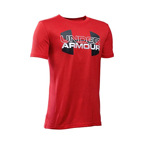 Under Armour Boys' Tech Big Logo Hybrid, Red/Black, Youth Small