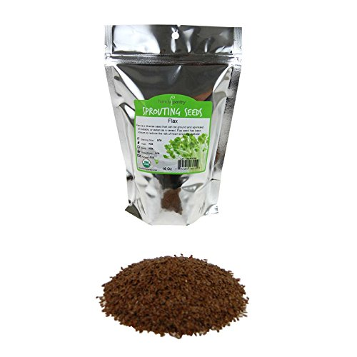 Organic Brown Flax Seeds   1 Lb Resealable Bag   Canadian Flaxseeds   Flax Seed For Sprouting  Grinding  Omega Oils  Baking