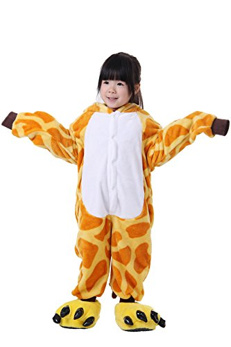 FashionFits Kid's Unisex Animal One Piece Sleepwear Jumpsuit Pajama Cosplay (Homemade Halloween Toddler Costumes)