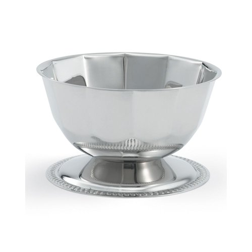 Vollrath 46701 S/S 16 Ounce Gadroon Base Paneled Sherbet Bowl
