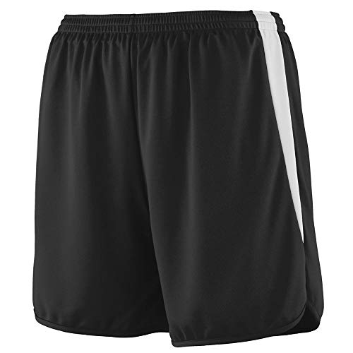 Augusta Sportswear Augusta Youth Rapidpace Track Short, Black/White, Large ()