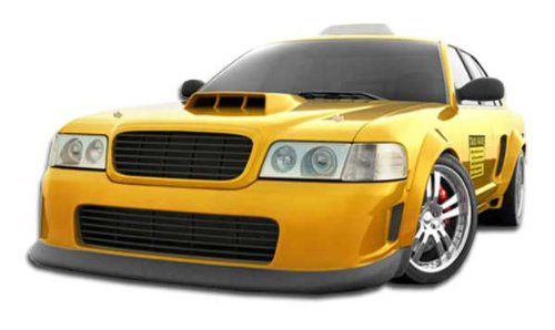 (Duraflex ED-EXC-851 GT Concept Front Bumper Cover - 1 Piece Body Kit - Compatible For Ford Crown Victoria)