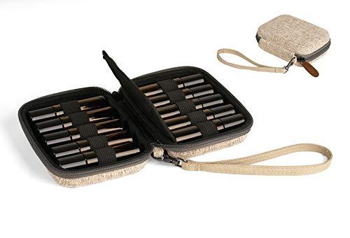 Aerobliss Essential Oil Travel Case Hard Shell Wallet for 10ml Roller Bottles with Bonus Recipe eBook