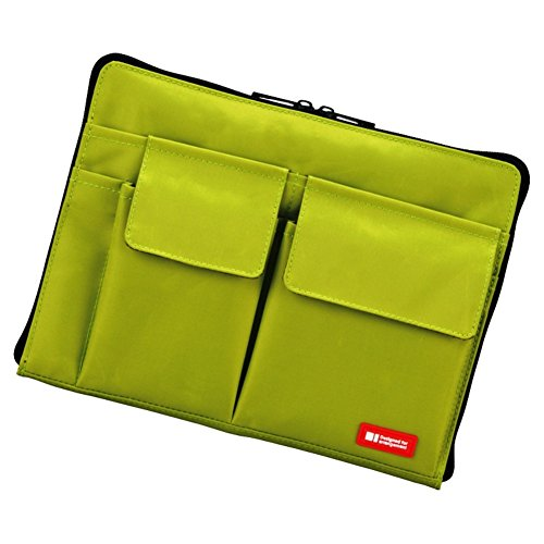 (LIHIT LAB Bag Insert Organizer with Storage Pockets (Bag-in-Bag), Yellow Green, 7.1 x 9.8 Inches (A7553-6))