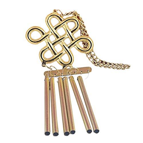 Feng Shui Knot Bracelet - Feng Shui  6 Rod Mystic Knot Windchime W Fengshuiale  Red String Bracelet P1028-1
