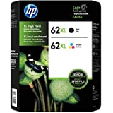 for HP 62xl Black,Tri Color Ink Cartridges Combo Pack