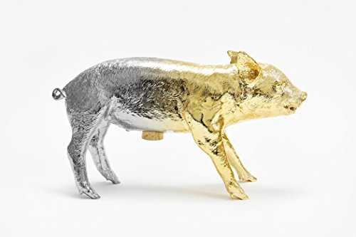 Reality Bank in the Form of a Pig Piggy by Areware, Gold/Silver Gradient by Areaware