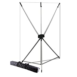 Westcott 577K X-Drop Kit with 5 x 7 Feet White Backdrop (White/Silver)