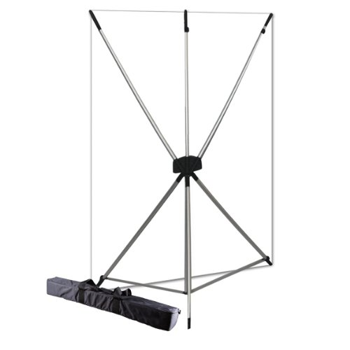 Westcott 577K X-Drop Kit with 5 x 7 Feet White Backdrop (White/Silver) by Westcott