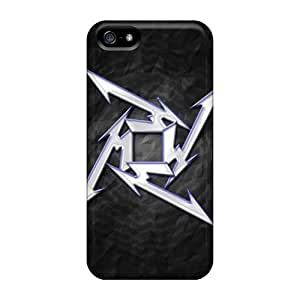 Anti-Scratch Hard Cell-phone Case For Iphone 5/5s With Provide Private Custom High Resolution Metallica Star Series IanJoeyPatricia