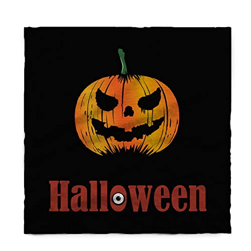 WAZZIT Cotton Linen Tablecloth Cartoon Table Cover for Kitchen Dinning Tabletop Decoration 54x109inch Halloween Pumkin Lantern