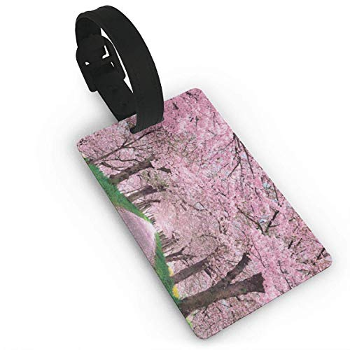 (Pejer Unisex Premium Luggage Tags With Hand Strap Cherry Blossom Luggage Bag Tags Travel ID Identification Labels Set Bags & Baggage)
