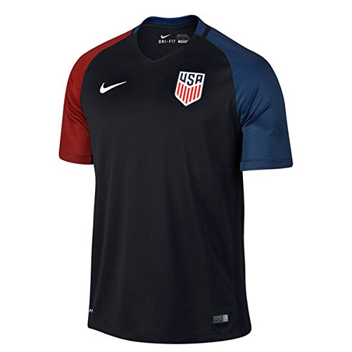 Nike United States Away Stadium Soccer Jersey  Black