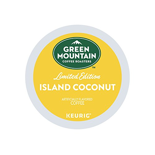 Large Product Image of Green Mountain Coffee Roasters, Island Coconut, Limited Edition Keurig Single-Serve K-Cup Pods, Light Roast, Coconut Flavored Coffee, for use with Keurig Coffee Makers, 24 Count