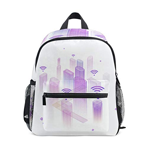 FAJRO Technological City School Bag for Girls School Pack