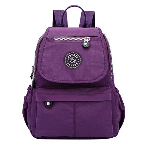 ♛Shiretel Bag IAMUP Ladies Student Bag Oxford Cloth Backpack Fashion Casual Backpack Shoulder Travel ()