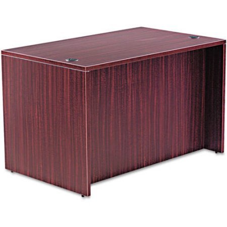 Straight Water, Scratch and Stain Resistant Desk Shell, Med Cherry Finish, Provides Commercial-Grade Laminate Work Surface and Side Panels, Protective 3mm Edge Banding, Mahogany + Expert (Laminate Side Panels)