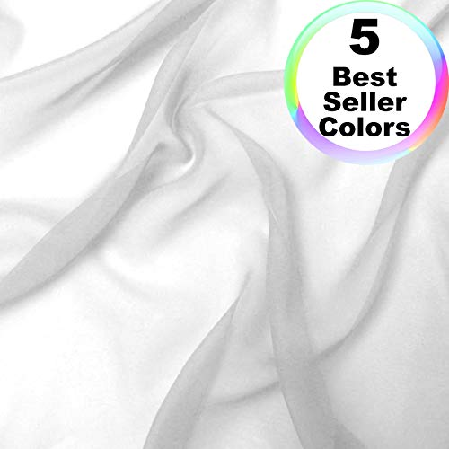 "Chiffon Fabric | 10 Yards Continuous | 60"" Wide 