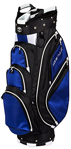 Hot-Z Golf 4.5 Cart Bag, Black/Cobalt (Divider Golf)