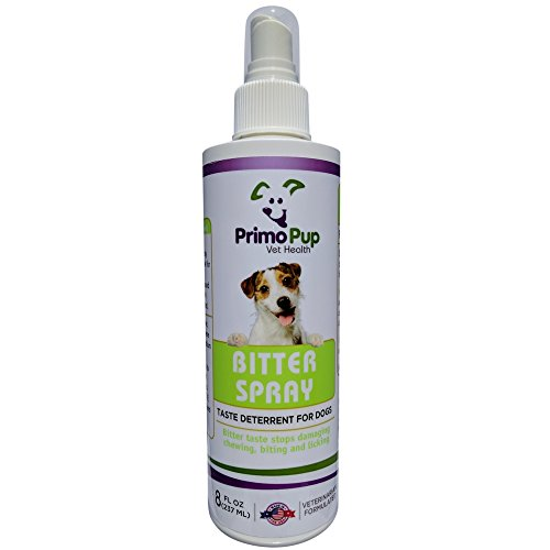Apple Furniture (BITTER SPRAY Taste Deterrent for Dogs | Primo Pup Vet Health | Stops Damaging Chewing, Biting and Licking | 8 fl oz)
