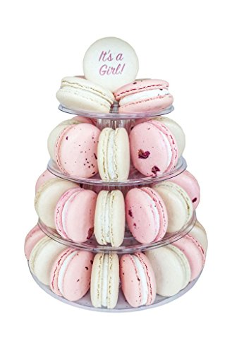 4 Tier 'It's a Girl!' MACARON Tower by MACARON by Patisse