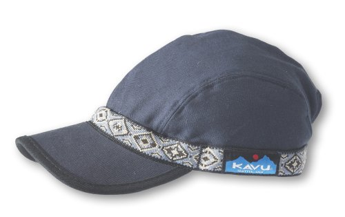 KAVU Strap cap Fishing Hats, Denim, Large Denim Nylon Cap