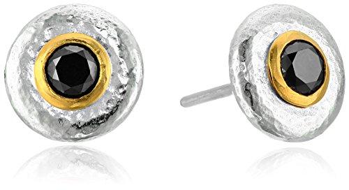 GURHAN ''Droplet'' Sterling Silver Black Diamond Stud Earrings (5/8cttw) by Gurhan