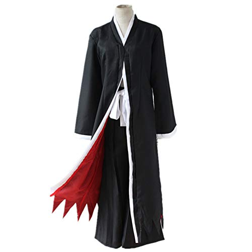 FangjunxianST Kurosaki Ichigo Bankai Cosplay Costume Black Robe Cloak Japanese Clothing (Small) ()