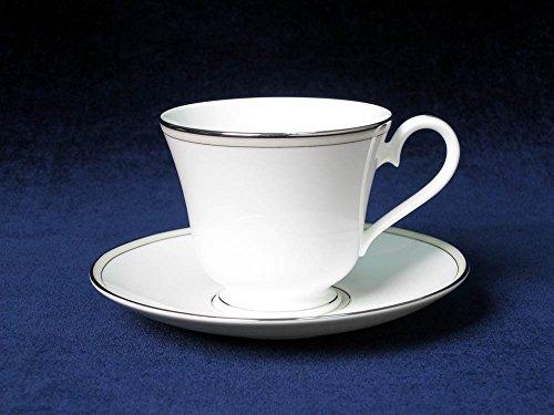 Platinum Beaded Pearl Teacup & Saucer