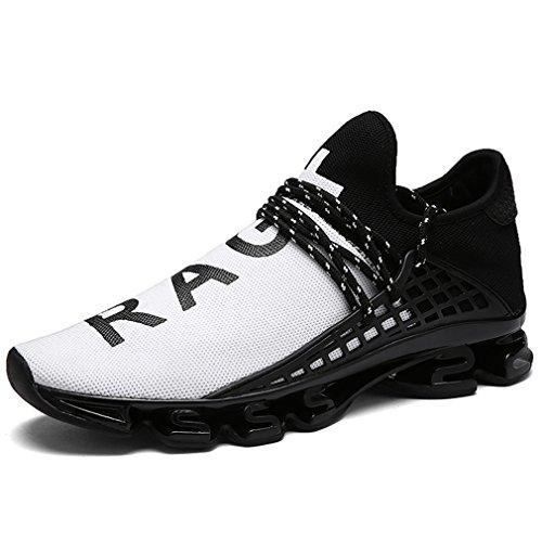 amp;weiss Schnürer Atmungsaktive Schwarz Laufschuhe Unisex Fitnessschuhe Sneakers Ultraleicht Solshine Sportschuhe TzxU7v5n