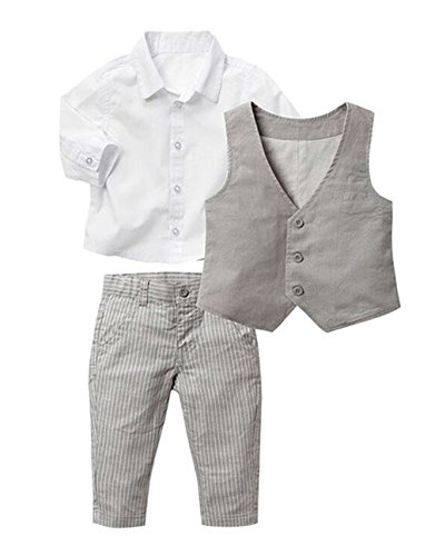 Khaki White Formal Shirt 3 piece