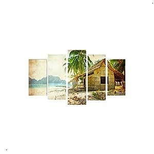 5 Pieces Digital Printed MDF Wood ArtPFR-1041