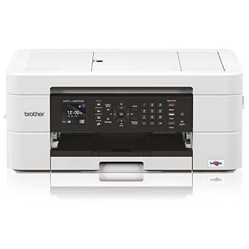 Brother MFC MFC-J497DW Inkjet Multifunction Printer - Color - Plain Paper Print - Desktop - Copier/Fax/Printer/Scanner - 6000 x 1200 dpi Print - Automatic Duplex Print - 1 x Input Tray 100 Sheet, 1 x by Brother
