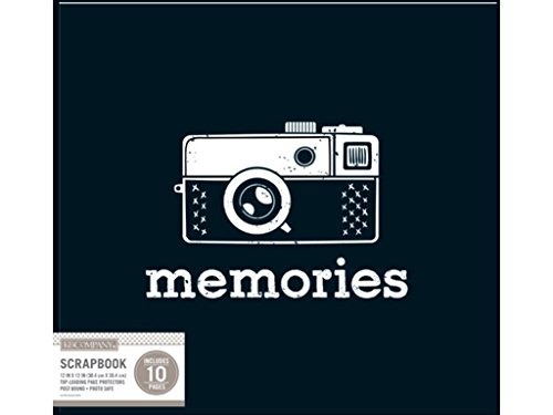 tage Memories Black Scrapbook 12x12 Vint Mem ()