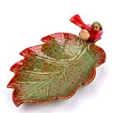 SaveStore Modern Ceramic Animal Maple Leaf Fruit Plate Decoration Living Room Restaurant Key Storage Tray Creative Candy Dish Ornament
